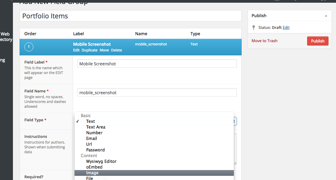 Mobile Screenshot - ACF Advanced Custom Fields for Portfolio Website