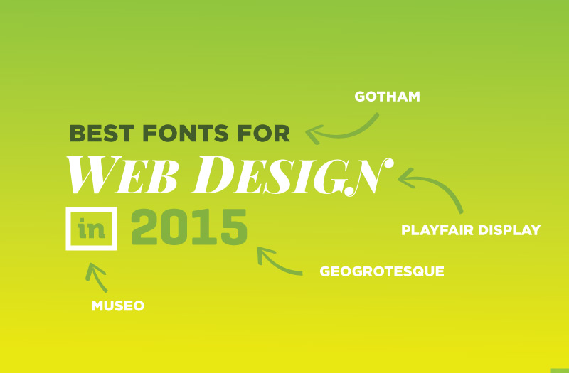 Best Fonts for Web Design 2015 - Gotham, Playfair Display, Geogrotesque and Museo