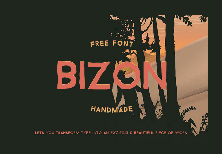 Bizon - Handlettering - hand-lettered- hand-letter - - modern fonts 2015 - the best top font of the year