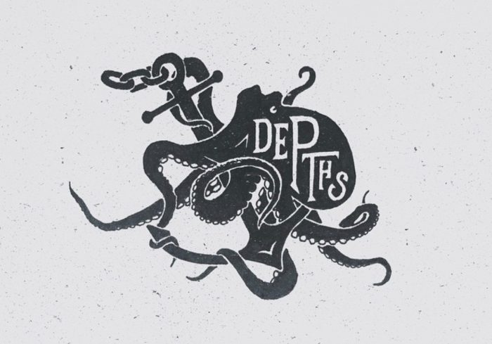 Depths, Octopus and Anchor illustration