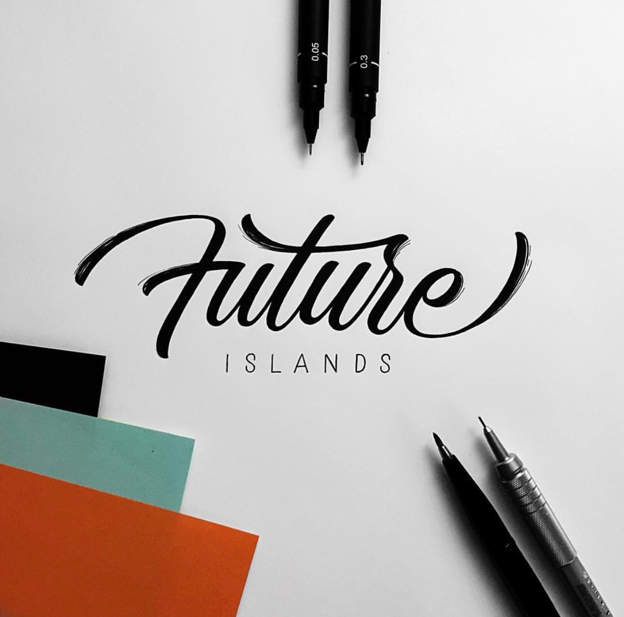 future islands hand lettering inspiration