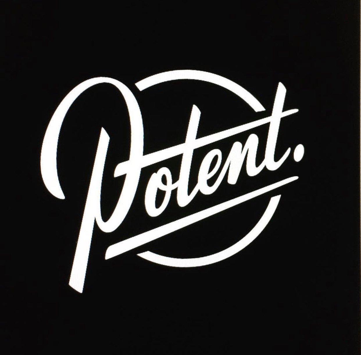 Potent. Branding design and lettering examples