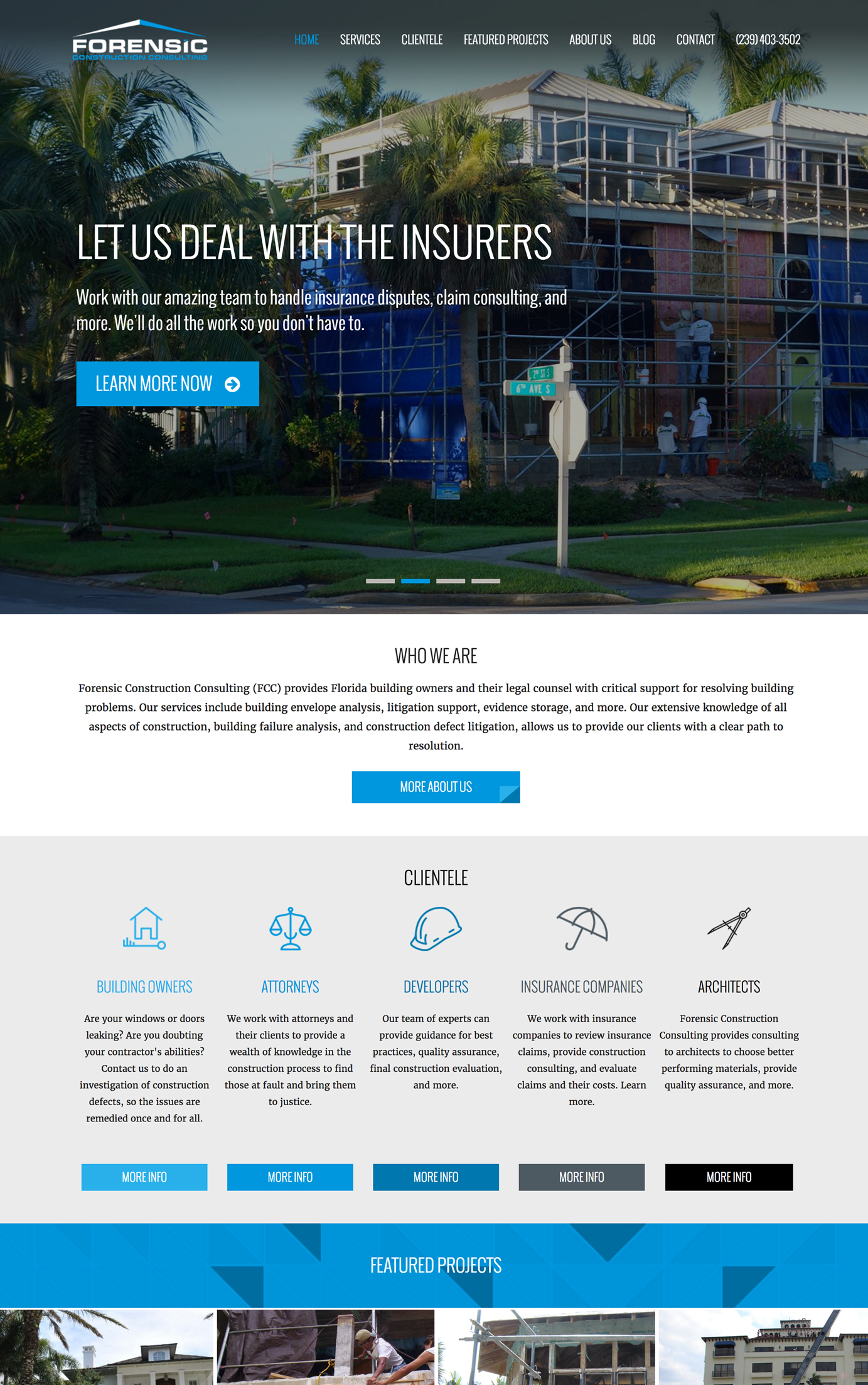 Forensic Construction - Marketing and web design