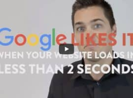 Google Likes it when your website loads in less than 2 seconds - video thumbnail, technical SEO simplified