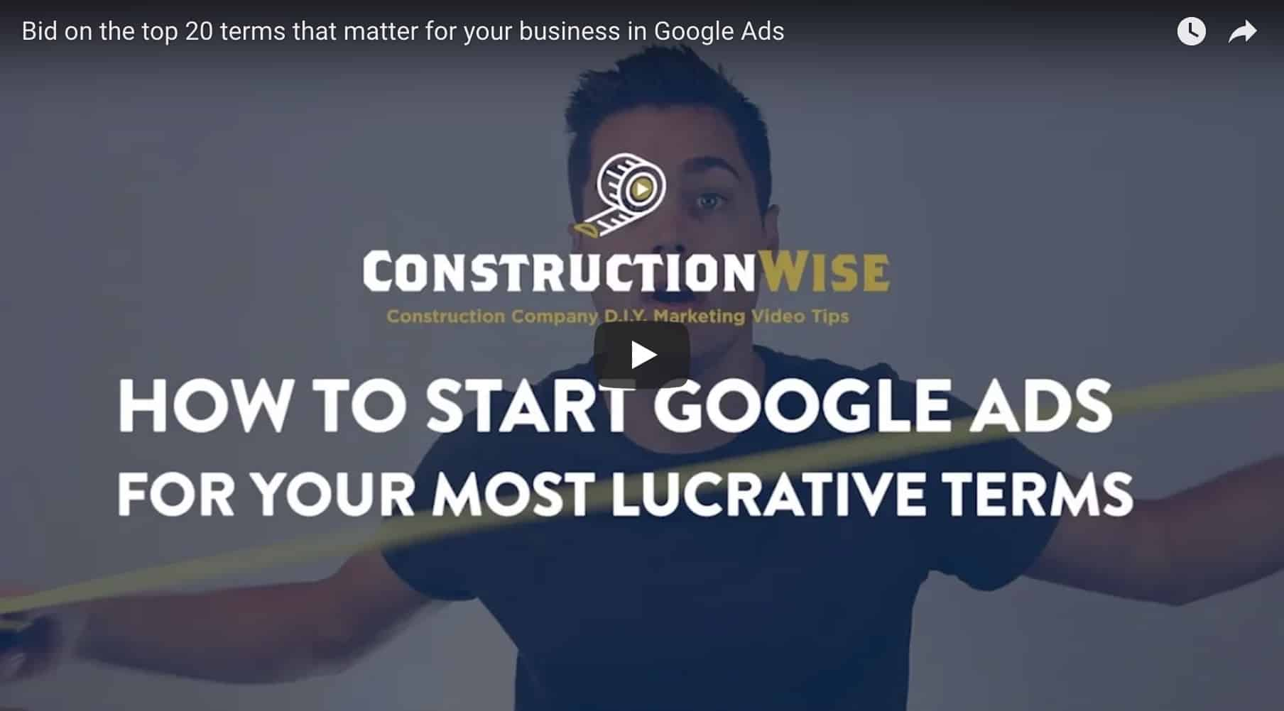 Get Started on Google Ads - with your 20 most lucrative search terms