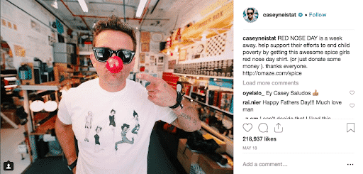 Casey Neistat red nose day