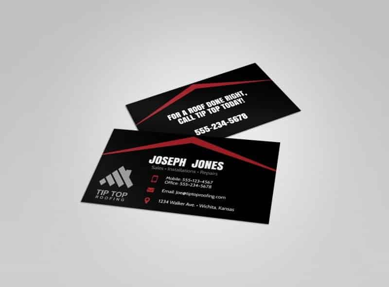 Roofing template - business card