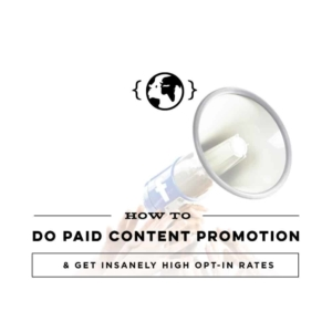 Paid Content Promotion