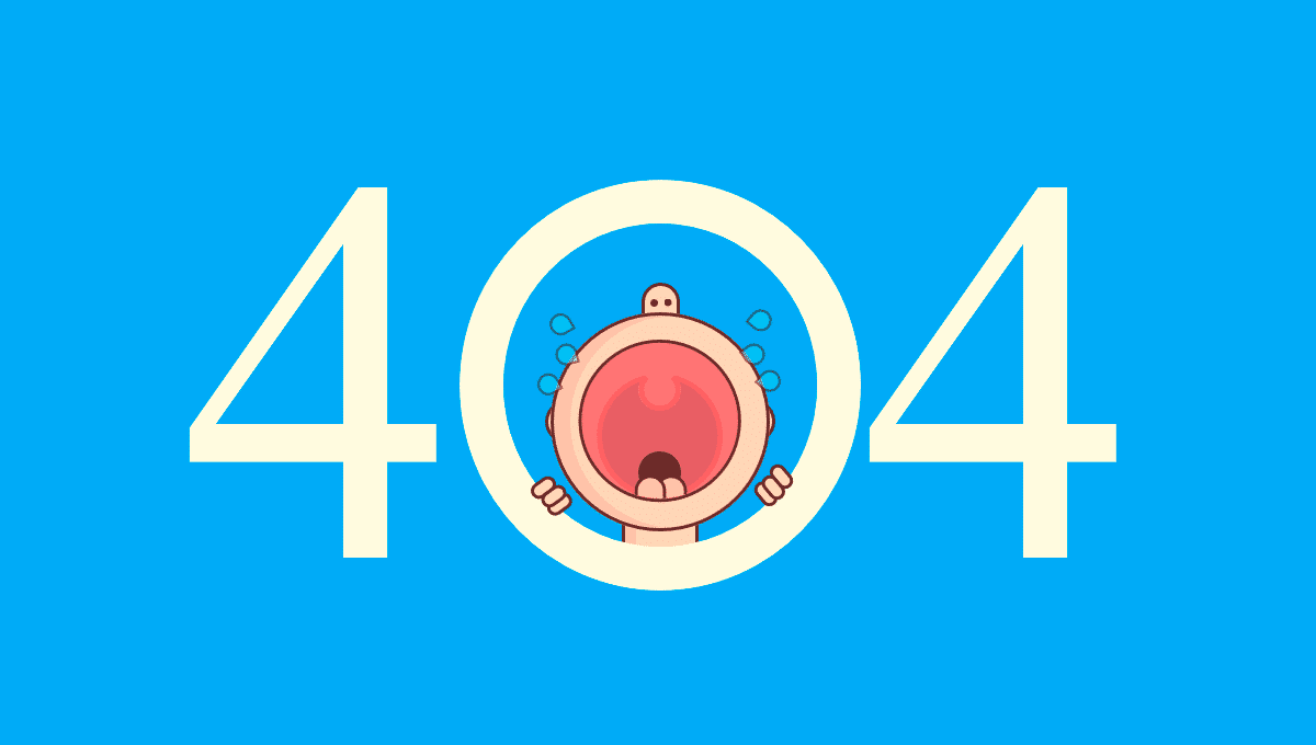 Crying Baby 404 Page funny