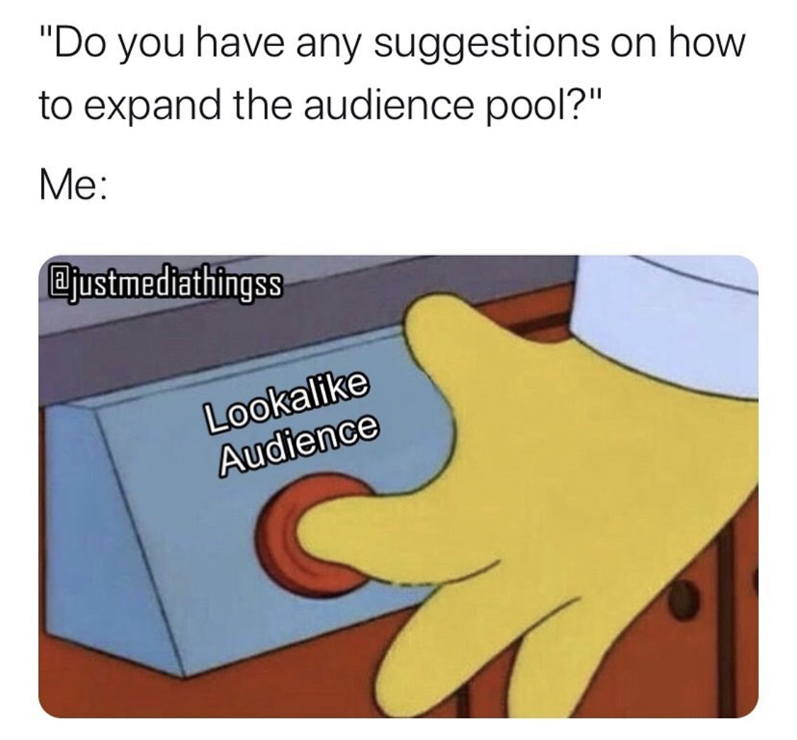 Do you have any suggestions on how to expand the audience pool meme