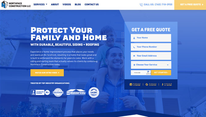 Roofing Website Design - Roofing Marketing Lead Generation Services Company Agency